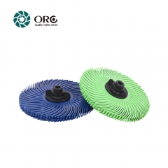6 pcs Radial bristle discs-grit from 1000# fine to 80# coarse.3 inch,15000~30000 RPM