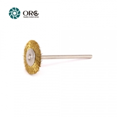 12 pcs Miniature Brush-Brass Wire-ORO@